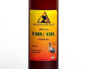8 oz EMU OIL AUSTRALIAN Triple Refined Organic 100% Pure