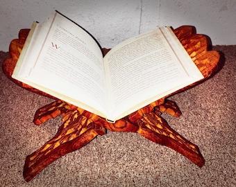 Ornate wooden book holder