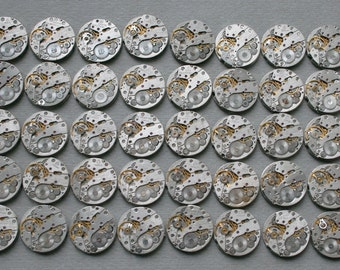 "6/8"" . Set of 40   Vintage Soviet Watch movements , steampunk parts"