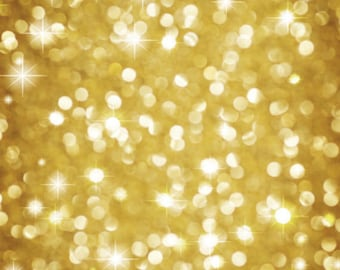 Vinyl Backdrop Gold Bokeh / Christmas bokeh backdrop Photography Backdrop (V9106)