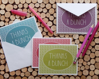 INSTANT DOWNLOAD | Printable Thank You Cards - Set of 4