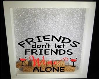 Wine Frame/Wine Lover Gift/Wine Lover Frame/Cork Frame/Cork Box Frame/Wine Cork Frame/Gift for wine lover/Gift for mum/Mum Gift/Sister Gift