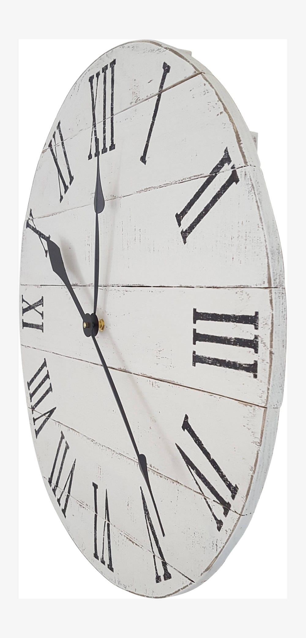 Wood clock pallet clock reclaimed wood clock roman numeral wood clock pallet clock reclaimed wood clock roman numeral clock white wall clock distressed clock rustic decor amipublicfo Image collections