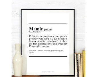 Poster Definition 'Mamie' - text - to download