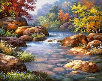 Summer Stream - Counted cross stitch pattern in PDF format
