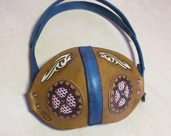 Leather Respirator Mask - Steampunk