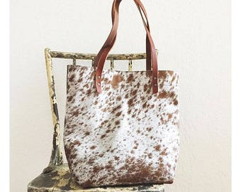 Limited Edition Furry Leather Tote Bag