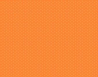 Lizzy House Asterisk in Nasturtium Orange for Andover Fabrics