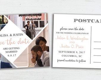 Save the Date Card Postcard, Printed Save the Date, Photo Save the Date, Custom Save the Date,