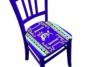 Chair wood, upcycled -- BEIJING -- SUMMER PALACE -- Handpainted by SophieLDesign