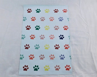 50 10x13 Puppy Paw Print Poly Mailer Self Seal Adhesive Plastic Flat Envelope Water Resistant Tear Proof Lightweight