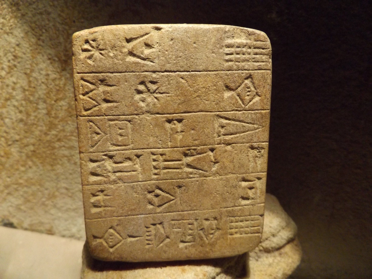 Sumerian writing - cuneiform tablet of Gudea - document ...