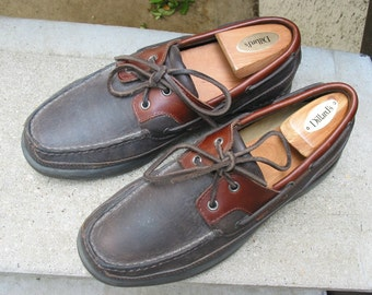 Rockport Black & Brown Used Top-Siders Boat Shoes 7.5