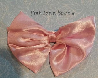 Pink Satin Bow Tie Dog Tie add on