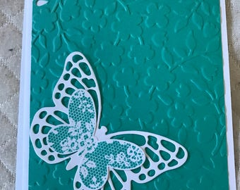 Teal Butterfly Card