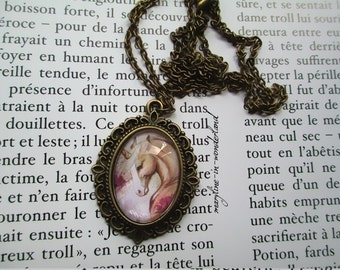 Nice necklace Cabochon glass Unicorn palomino