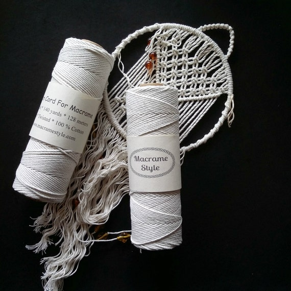 Cotton Cord For Macrame Twisted Macrame Cord 140 Yards