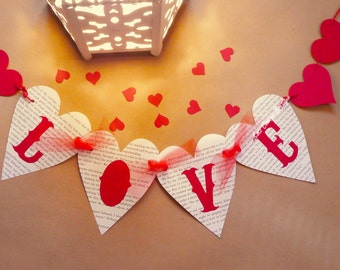 Valentines day decor, Love banner, wedding, engagement, hen party, home decor, photo prop