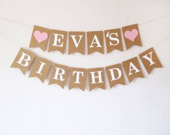 Personalised name bunting birthday decorations