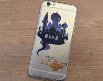Magic Genie Lamp iPhone Case, Your choice of Soft Plastic (TPU) or Wood