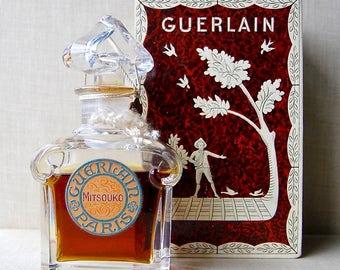 Vintage Guerlain Mitsouko Perfume, 2 oz. Bottle & Box. Old Formula, 1940s.
