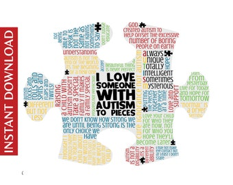 Inspirational Autism Digital Image * * Digital Image * * DIY Printable * *