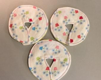 Large Size/Adult Feeding Tube Pad - Set of 3, Delicate Daisy Pots