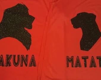 Lion King Couple Simba and Nala Hakuna Matata Shirts