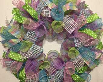 Easter wreath/ spring wreath/ Easter wreaths/ spring wreath/ welcome wreath/ Easter decor/ Easter/  spring door decor/ welcome wreaths,