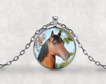 Horse•Horses•Cowgirl•Horse Lover Gift•Horse Lover Necklace•Horse Lover•Horse Jewelry•Necklace•Pendant•Necklace•Charm•Charm Necklace
