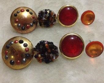 60's style hippy retro style earrings
