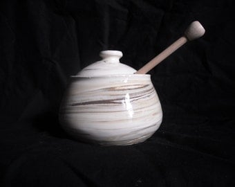 Wheel Thrown Honey Pot