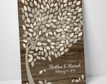 Large Wedding Guestbook Alternative, Gallery Wrapped Canvas, Wedding Tree Guest Book, Wedding Signing Tree, Guestbook Canvas, 18X24