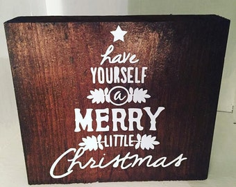 Have yourself a merry little christmas block