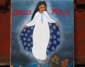 Stella Maris, original folk icon painting, Mother's Day gift, May