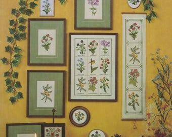Helene Halveson Wildflowers No 7 Cross Stitch Pattern From 1983 (A8)