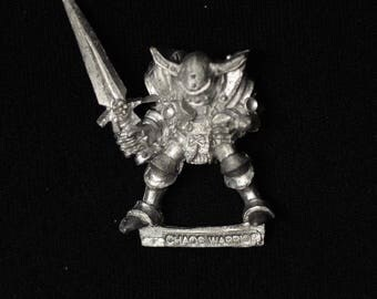 Unknown Chaos Warrior from the 1980s Warhammer Citadel D&D 40K (J146)
