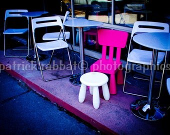 When I grow up -  Fine Art Photography Café Terrasse Seats Children Bedroom Decor Pink White
