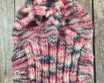 Newborn Hand Knit Wool Soaker - Wool Diaper Cover - Diaper Cover - Pink Wool Diaper Cover