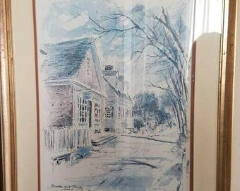 Williamsburg Print by John Haymson 1 of 3 Set available for discounted price Barber shop