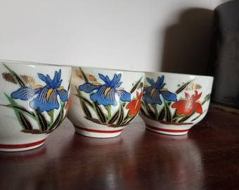 Japanese Sake cups 3 cups