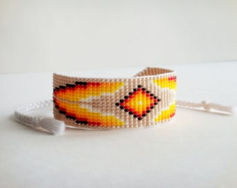Native American style seed bead bracelet