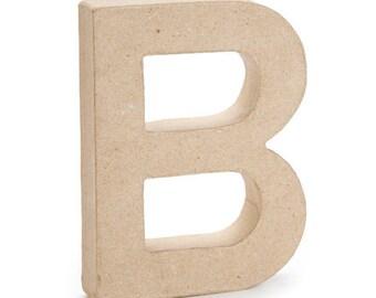 Paper Mache Letter -B - 6 inches,Unfinished Mache, Embellishment Letter,Cardboard letter, Alphabet Décor