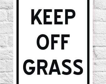 KEEP OFF GRASS Sign | Lawn Sign | Price includes shipping.