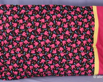 Pillowcase Made with Ponytail Barbie Fabric, Standard size, Cotton