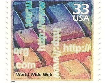 10 Unused 2000  World Wide Web - WWW - Postage Stamps Number 3191n