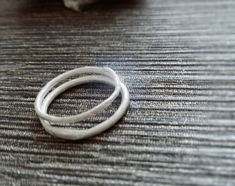 Stacking Rings, Fine Silver Rings, Textured Rings, Silver Rings, Ring Set, PMC Silver, Fine Silver, Band Rings, Brushed Metal
