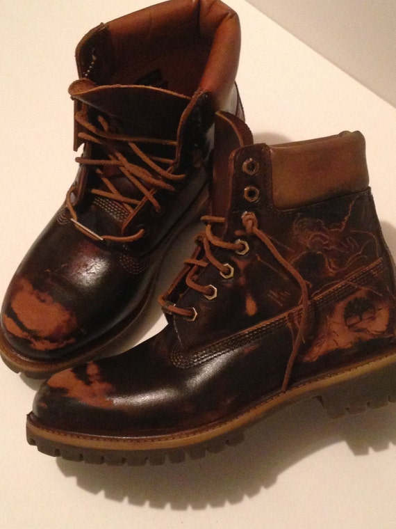 custom timberland boots s boots chocolate by