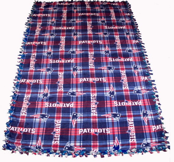 New England Patriots fleece blanket, New England throw blanket, Patriots no sew fleece blanket, New England throw fleece blanket, reversible