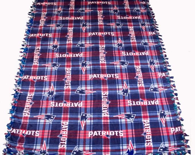 New England Patriots fleece blanket, New England throw blanket, Patriots no sew fleece blanket, New England throw fleece blanket, reversible